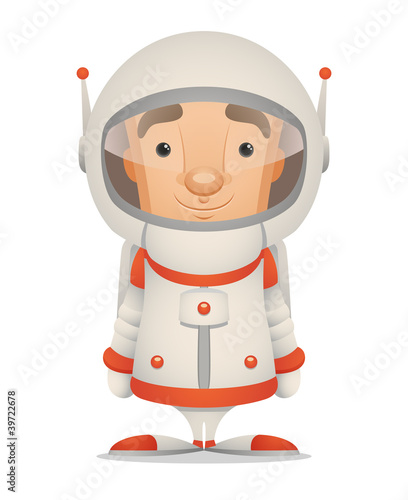 Cadres-photo bureau Cosmos Cartoon Astronaut