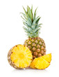 canvas print picture - pineapple with slices