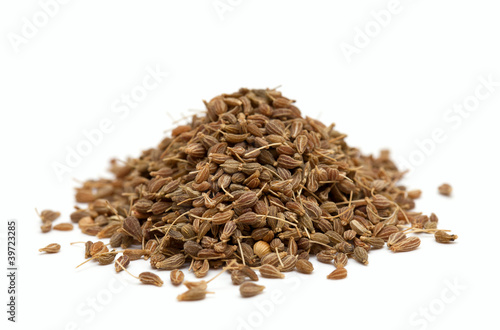 pile of anise isolated on white background Canvas Print