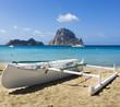 Blue sea at Ibiza