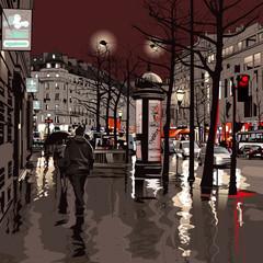 Obraz na Szkle Paryż Paris at night