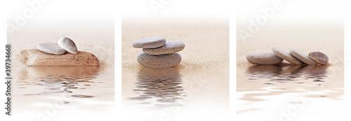 Recess Fitting Zen Triptyque galets zen