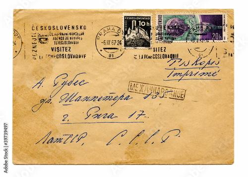 Valokuvatapetti Vintage cover of Czechoslovakia