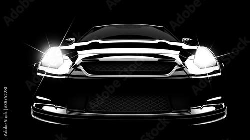 Obraz Black car - fototapety do salonu
