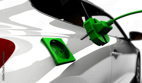 Plakaty samochody nowoczesne   samochod-elektryczny