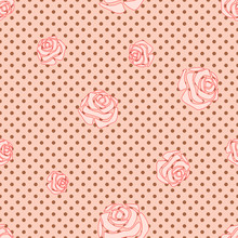 Seamless Pink Background (EPS 8) Roses Circles