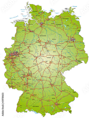 Autobahnkarte Von Deutschland Buy This Stock Vector And Explore