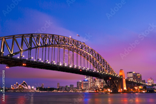 Sydney habour bridge - sydney city Poster