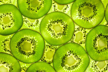 Obraz Fresh Kiwi pattern / background / back lit