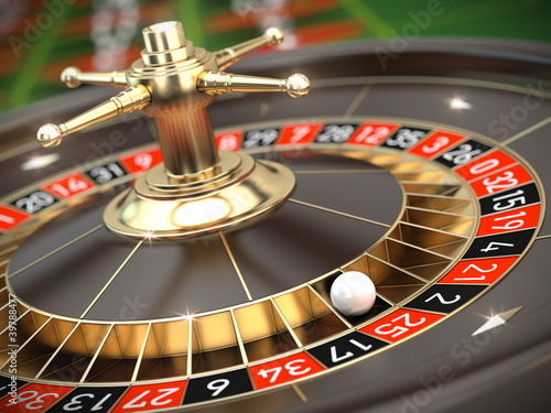 Fotografie, Obraz  Casino Roulette - 3d render
