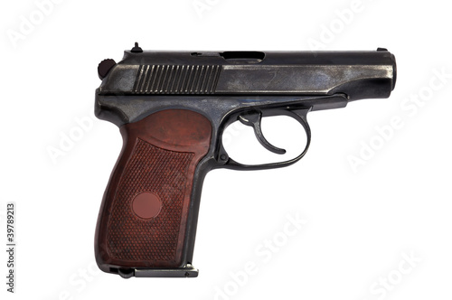 Photo steel pistol