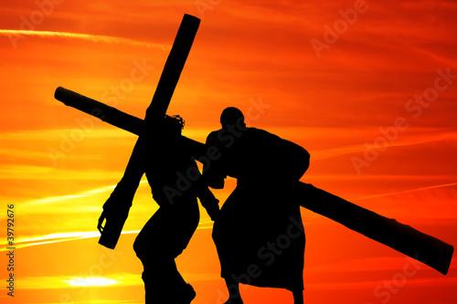 Valokuvatapetti Wooden cross