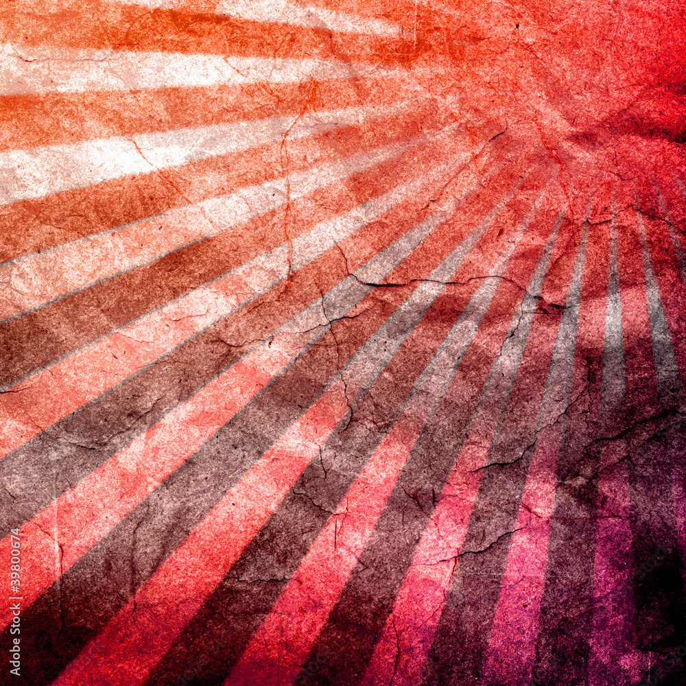 Fényképezés abstract grunge rays with paper texture background.