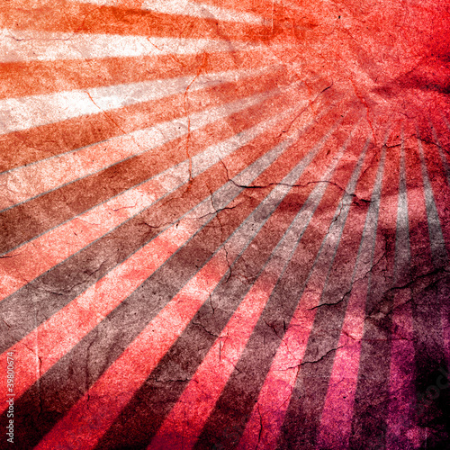 Cuadros en Lienzo abstract grunge rays with paper texture background.