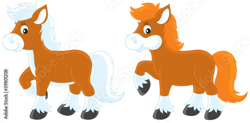 Deurstickers Pony Little Ponies