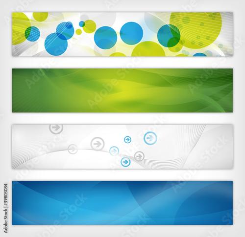 Fototapeta abstract vector header / banner obraz