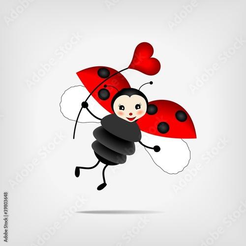Recess Fitting Ladybugs ladybug with heart