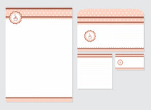 Cafe Template Blank, Visiting Card, Notes And Envelope