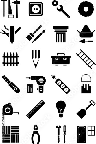 Photo DIY tools icons