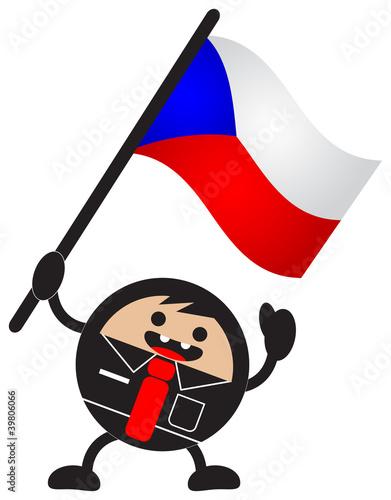 cartoon flag Poster