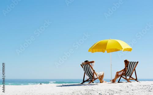 Fotomural Beach summer umbrella