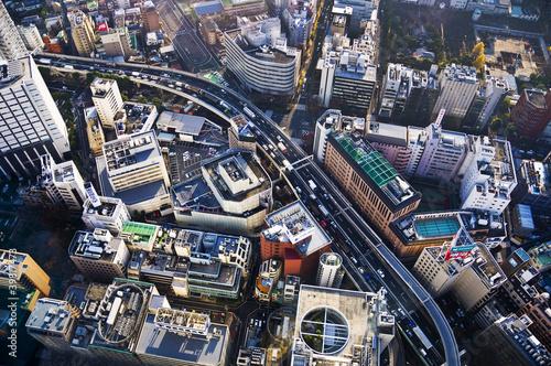 Spoed Foto op Canvas Tokyo Ikebukuro à Tokyo, vue d'en haut - Japon