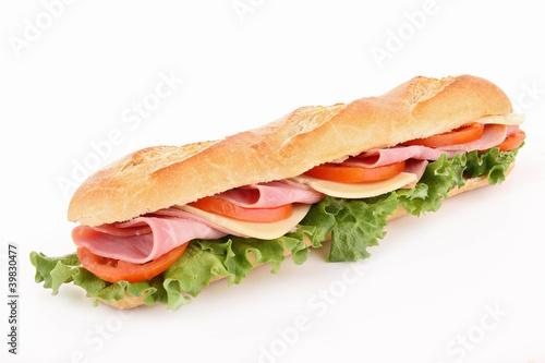 Staande foto Snack isolated sandwich