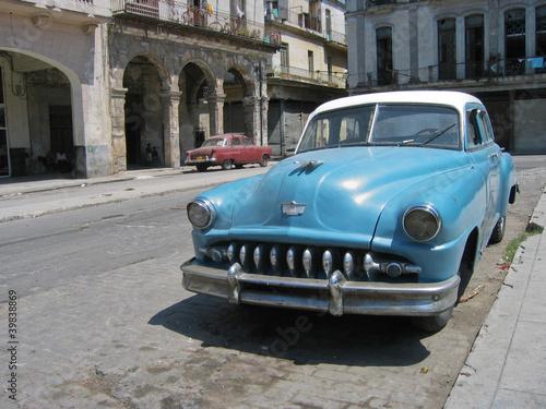 Deurstickers Cubaanse oldtimers Oldtimer, Havanna,Kuba