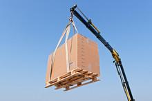 Crane Elevating A Box