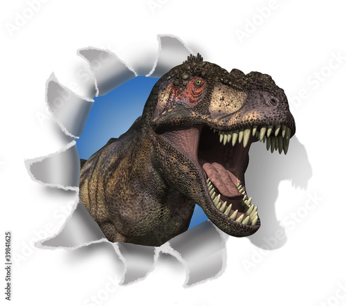 Photo  T-Rex Rips Through Your Document!