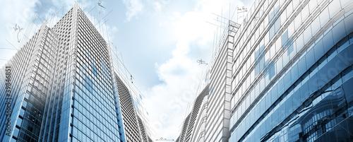 Staande foto Industrial geb. Project of modern buildings