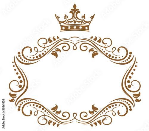 Elegant royal frame with crown Fototapet