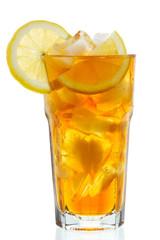 Fototapetaglass of ice tea with lemon
