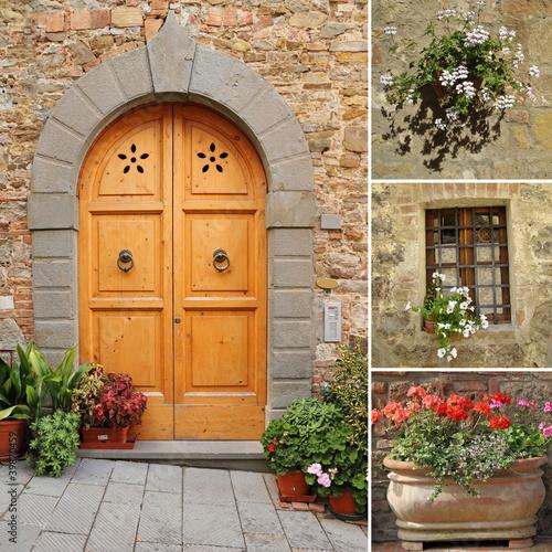 Fototapeta architektura kolaz-przednich-drzwi