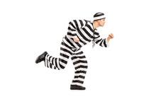 Full Length Portrait Of A Prisoner Escaping