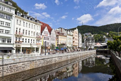 Fotografie, Obraz  cityscape of karlovy vary, czech republic
