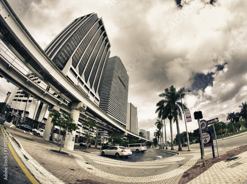 Streets and Buildings in Miami