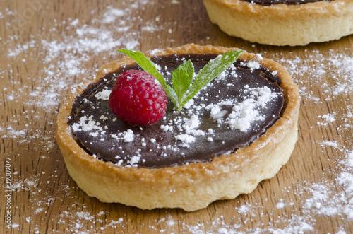 Cuadros en Lienzo Chocolate tart