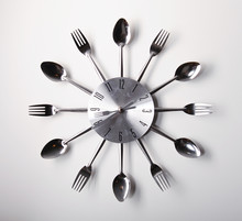 Clock Design With Spoons And F...