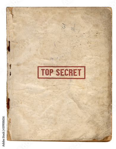 Top Secret Files Canvas Print