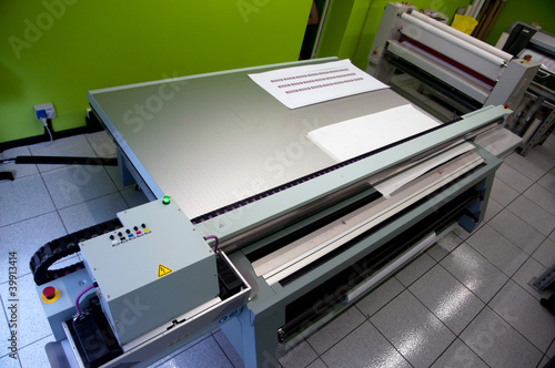 Digital printing - wide format printer - Buy this stock photo and