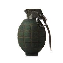 Green Grenade On White