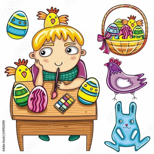 szczesliwa-chlopiec-maluje-easter-jajka-wielkanocna-seria-dla-dzieci-1