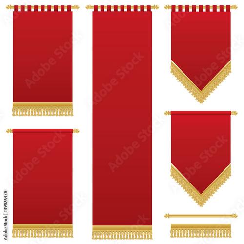 Obraz na plátně red wall hangings