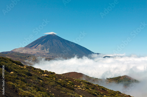 Printed kitchen splashbacks Canary Islands Teide volcano on a sunny day