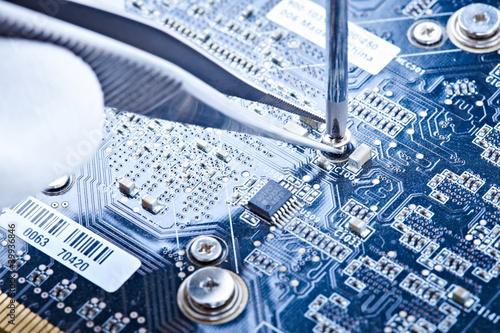 Fotografía  notebook repair printed circuit board