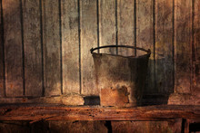 Grungy Rusty Bucket