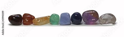 Photo  Row of Chakra Stones