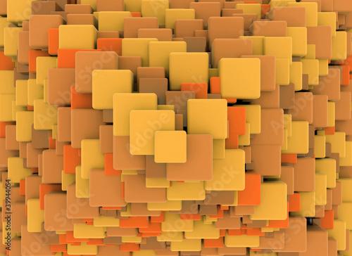 Abstrakcjonistyczny retro 3d sześcianów tło