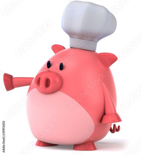 Fotobehang Boerderij Cochon chef